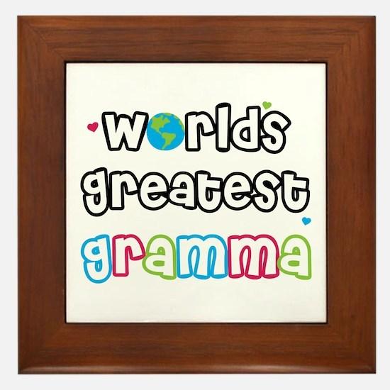 World's Greatest Gramma! Framed Tile