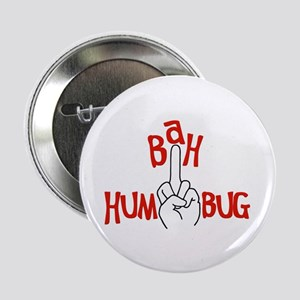 "bah humbug finger Christmas 2.25"" Button (10 pack)"
