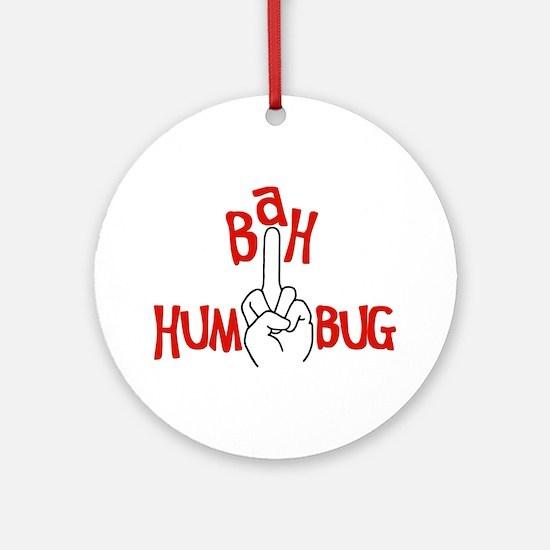 bah humbug finger Christmas Ornament (Round)