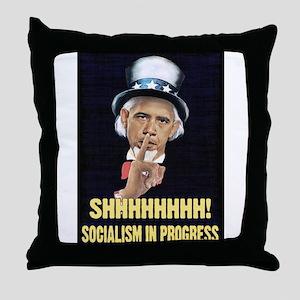 Obama a Socialist Throw Pillow