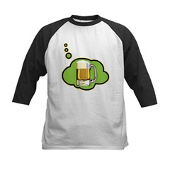 Beer Thinker Kids Baseball Jersey