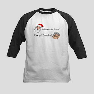 Who Needs Santa Kids Baseball Jersey