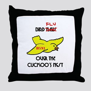 Bird Flu over the Cuckoos Nest Throw Pillow