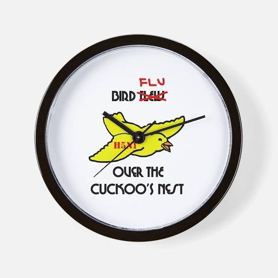 Bird Flu over the Cuckoos Nest Wall Clock
