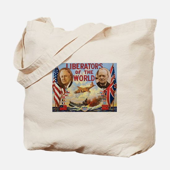 FDR & Churchill Tote Bag