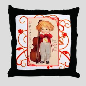Very Cute Retro Valentine Throw Pillow
