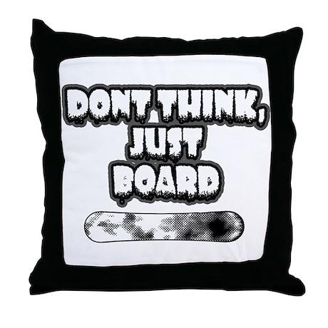 Snow Board Throw Pillow