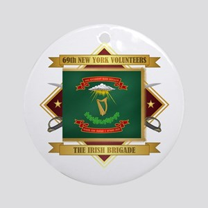69th NY Volunteer Infantry Round Ornament