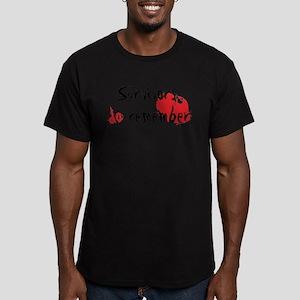 Genocide Survivor Men's Fitted T-Shirt (dark)