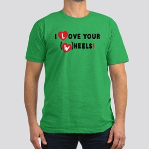 I love your (w)heels! Men's Fitted T-Shirt (dark)