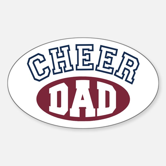Cheer Dad Oval Decal