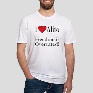 I Heart Alito Pro-Alito Fitted T-Shirt