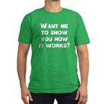 How It Works Men's Fitted T-Shirt (dark)