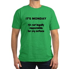 It's Monday Men's Fitted T-Shirt (dark)