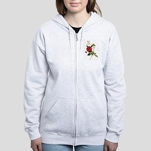 Red Rose Women's Zip Hoodie