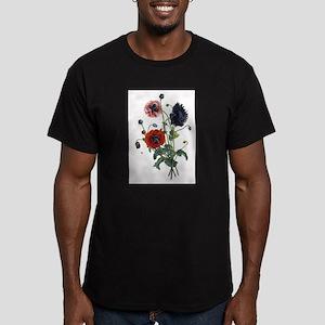 Poppy Art Men's Fitted T-Shirt (dark)