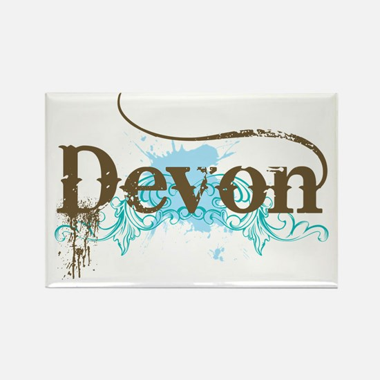 Devon England Rectangle Magnet