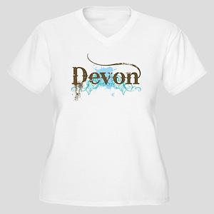 Devon England Women's Plus Size V-Neck T-Shirt