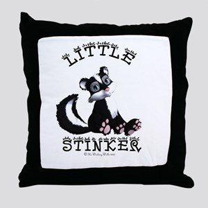 Little Stinker Throw Pillow