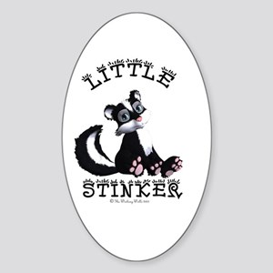 Little Stinker Oval Sticker