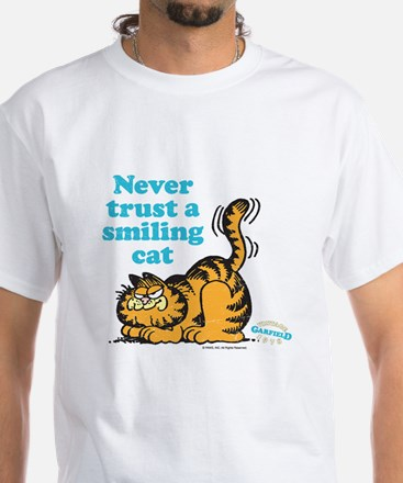Smiling Cat White T-Shirt