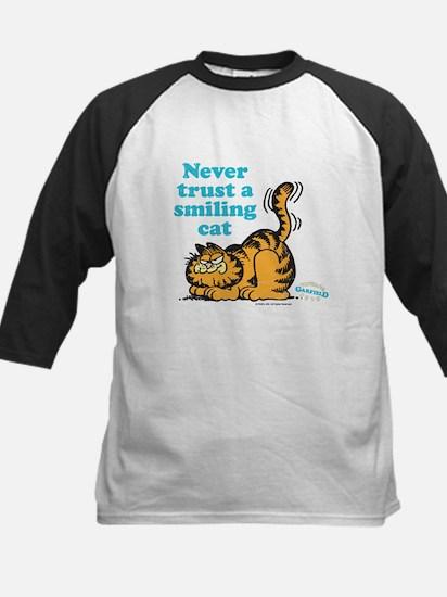 Smiling Cat Kids Baseball Jersey