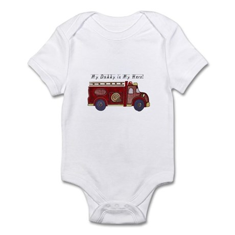 My Daddy is My Hero (Fireman) Infant Creeper