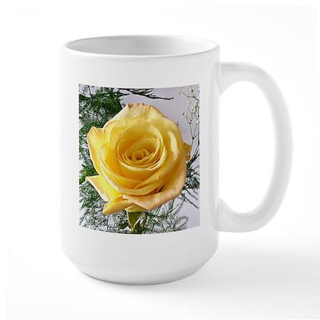 Yellow Rose Flower Large Mug