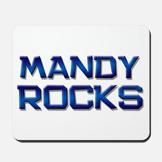 mandy rocks Mousepad