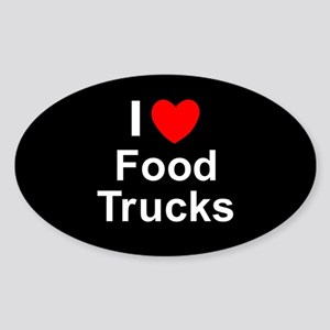 Food Trucks Sticker (Oval)
