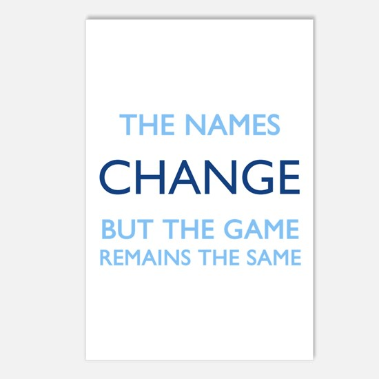 No Change Postcards (Package of 8)