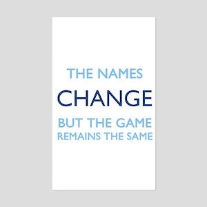 No Change Rectangle Sticker