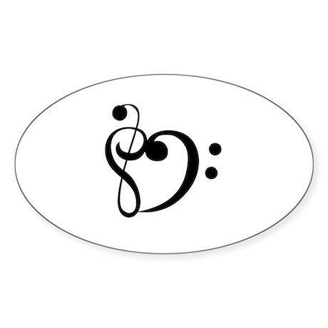 Music Lover Oval Sticker