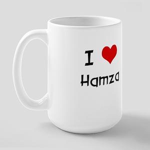 I LOVE HAMZA Large Mug
