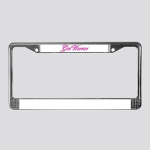 Girl Warrior License Plate Frame