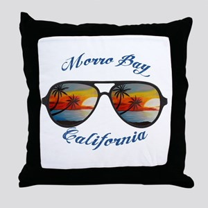 California - Morro Bay Throw Pillow