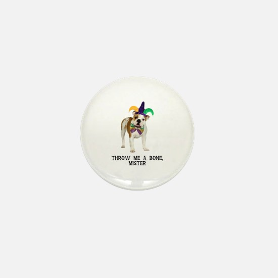 Bulldog Mardi Gras Mini Button
