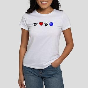 Eye Heart Hand Ball Mens T-Shirt