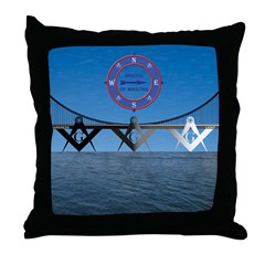 The Masons Bridge Throw Pillow