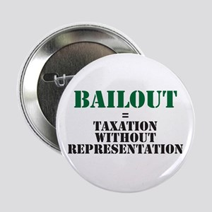 "Bailout equals taxation witho 2.25"" Button"