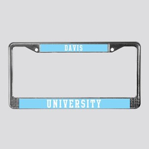 Davis Last Name University License Plate Frame