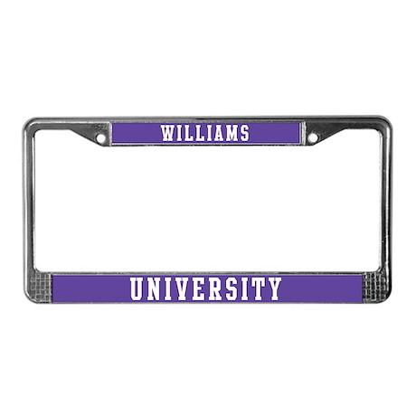 Williams Last Name University License Plate Frame by bestnametees