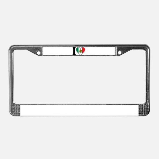 I Love Mexico License Plate Frame
