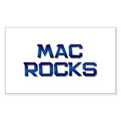 mac rocks Rectangle Decal