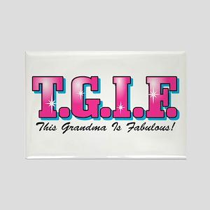 TGIF Fabulous Grandma Rectangle Magnet