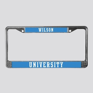 Wilson Last Name University License Plate Frame