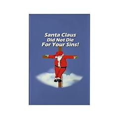 Santa Cross Rectangle Magnet (10 pack)