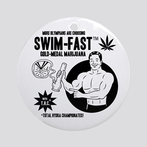 Swim FastT Ornament (Round)