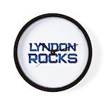 lyndon rocks Wall Clock