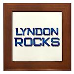 lyndon rocks Framed Tile